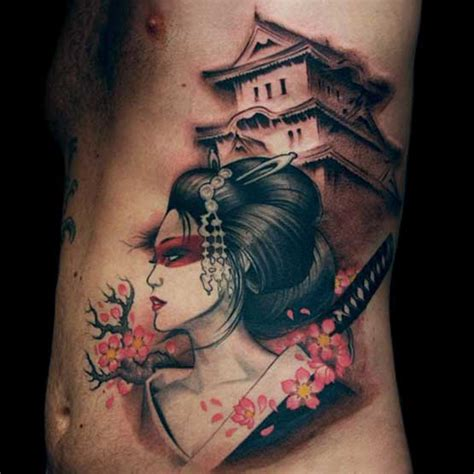 best japanese geisha design of tattoosdesign of