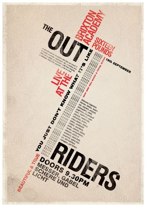 layout text poster outriders type experiment by mike kammerling via behance