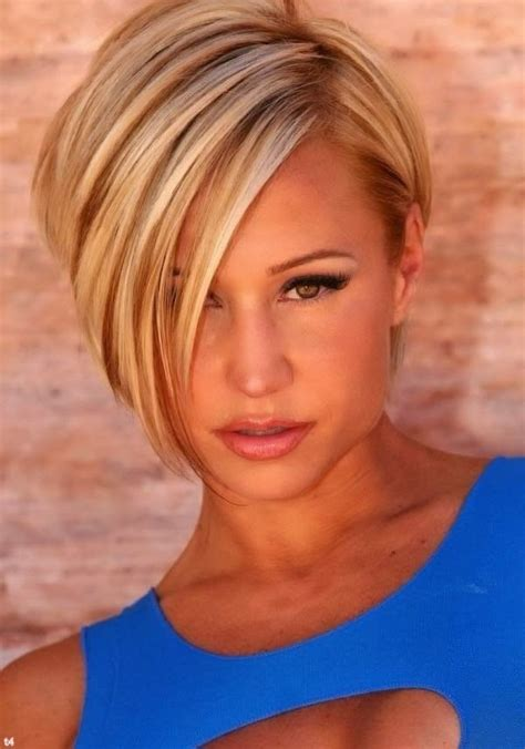 short hair with one side longer 25 fantastic short layered hairstyles for women 2015