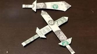 Dollar Bill Origami Sword - dollar origami sword tutorial how to make a dollar