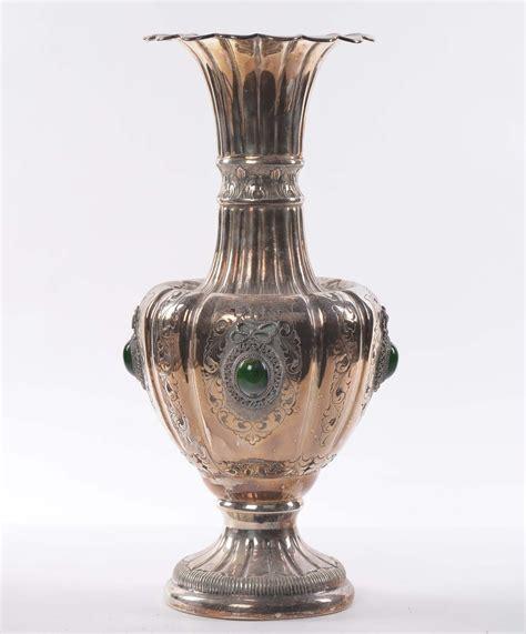 vasi in argento vaso in argento con applicazioni pietre dure
