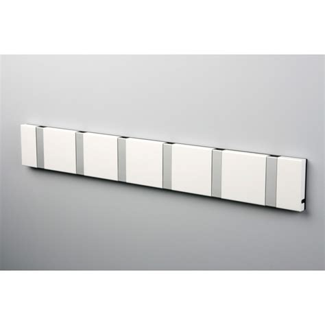 White Wall Coat Rack by White Wall Mounted Coat Rack With Flip Hooks Made In