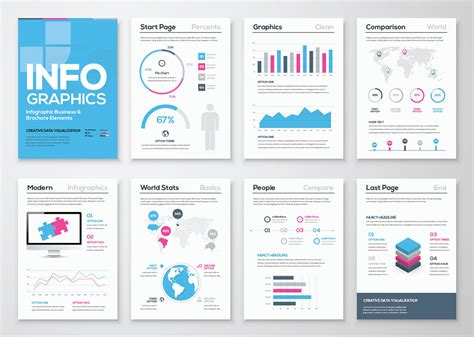 free infographic brochure template freebies ai brochure