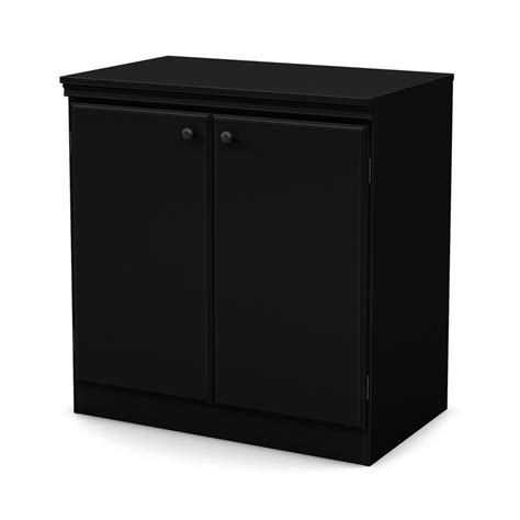 Black Office Cabinet by Shop South Shore Furniture Black 2 Shelf