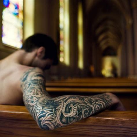 holy tattoo sleeve designs 20 sweet christian tattoos creativefan