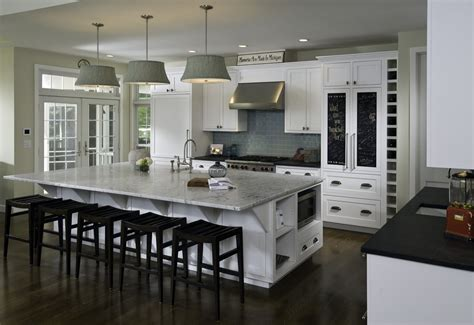 large kitchen islands  seating  storage