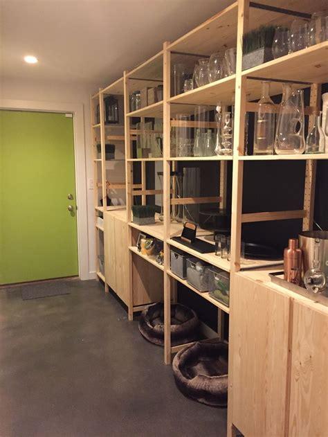 mudroom pantry update  ikea ivar storage system