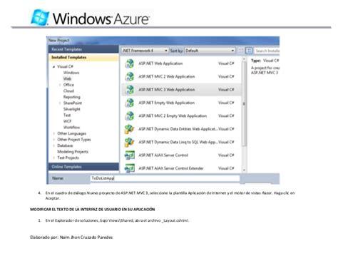 tutorial in visual studio 2010 tutorial windows azure con visual studio 2010