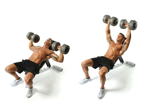 dumbbell incline bench press faster fat burning muscle performance