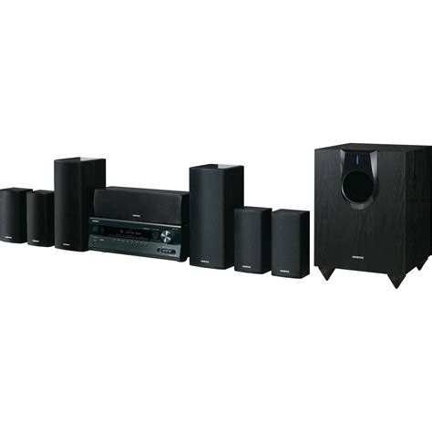 Home Theater Onkyo 7 1 onkyo ht s5300 7 1 channel home theater system ht s5300 b h