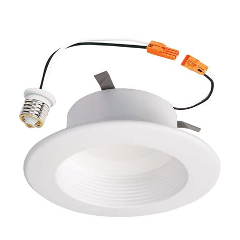 halo h4 led recessed light halo rl 4 in white integrated led recessed ceiling light