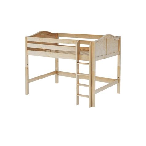 Maxtrixkids King Nc Mid Loft Bed With Straight Ladder Mid Loft Bed