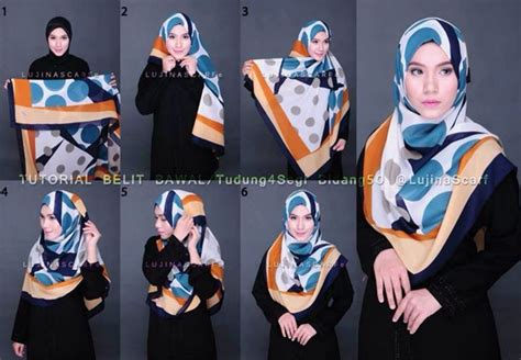 Tutorial Jilbab Syar I Modern | 1000 ideas about hijab tutorial segi empat on pinterest
