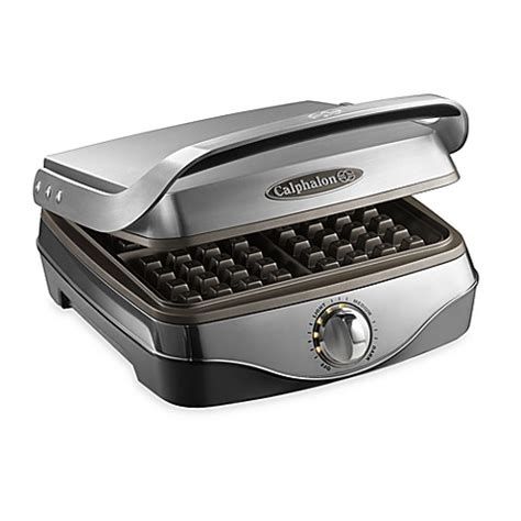 waffle maker bed bath and beyond buy calphalon 174 no peek waffle maker from bed bath beyond