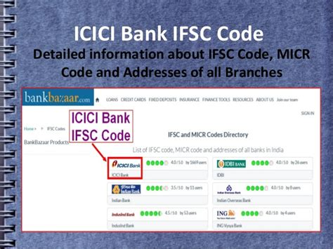 what is micr code in bank ifsc and micr code of icici bank