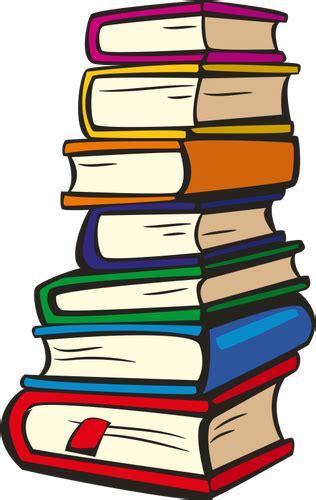 libri clipart pila di libri di vettore immagini vettoriali gratuiti