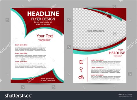 brochure flyer leaflet layout design template stock vector flyer template design business brochure stock