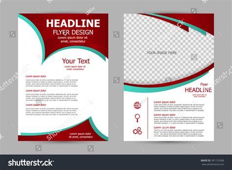 magazine leaflet design vector flyer template design business brochure stock