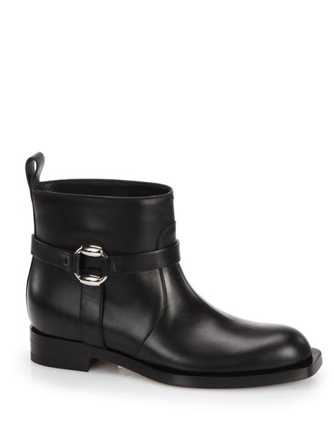 gucci buckle moto boots in black lyst