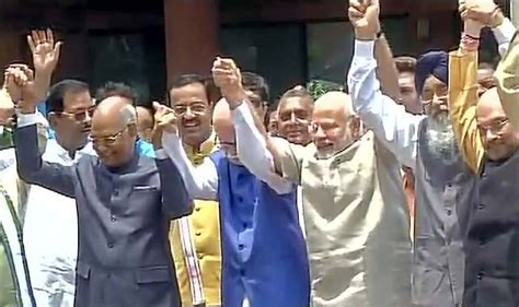 Presidential Election In India 2012 Essay by Ram Nath Kovind Files Nomination Papers For Presidential Election 2017 In Presence Of Pm Modi