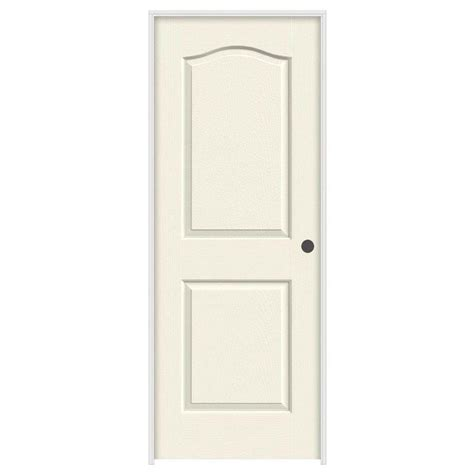 Composite Interior Doors Jeld Wen 28 In X 80 In Molded Smooth 2 Panel Eyebrow Vanilla Hollow Composite