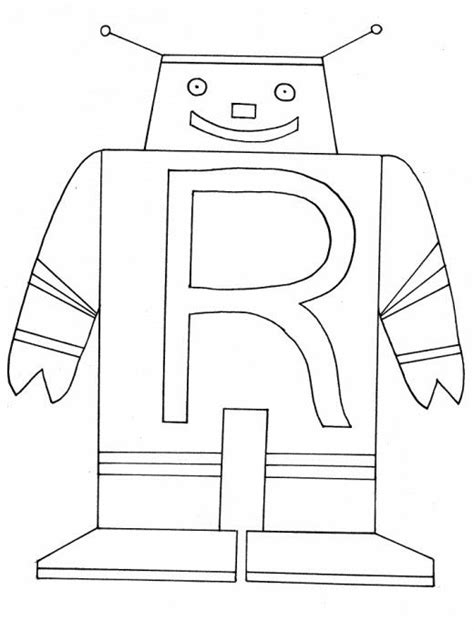 preschool robot coloring pages letter r activities preschool letter r pinterest