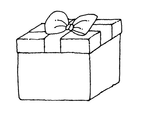 coloring page of gift box gift box