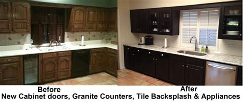 Kitchen Tile Backsplash Ideas With White Cabinets Decor Painted Black Kitchen Cabinets Before And After