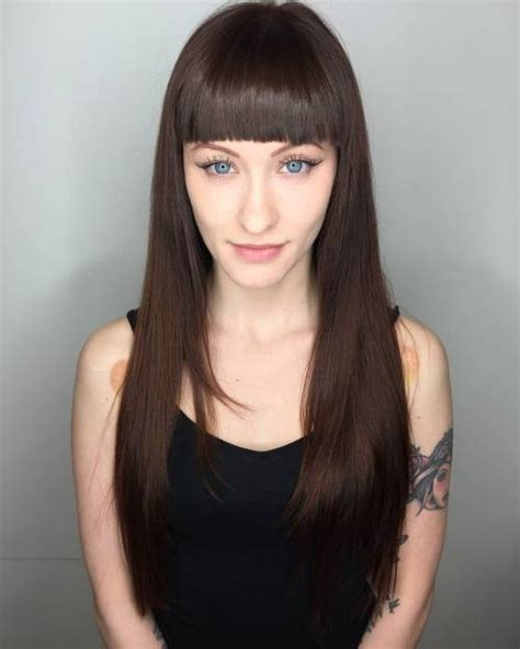 cute haircuts for straight hair with bangs 50 cute and effortless long layered haircuts with bangs