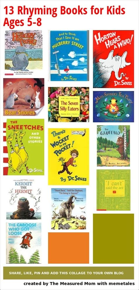 age books 13 rhyming books for ages 5 8 library displays