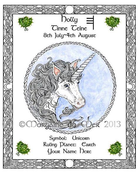 Celtic Tree Calendar Unicorn Celtic Tree Calendar Lunar Zodiac By