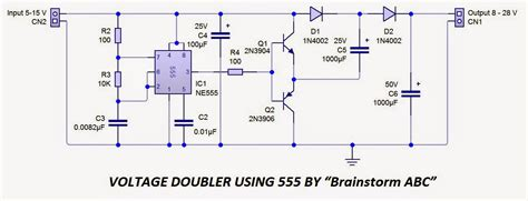 voltage across capacitor in astable multivibrator brainstormabc voltage doubler using 555 timer