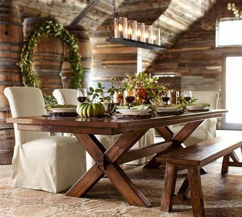 superior Home Decor Ideas For Small Homes #2: rustic-dining-room-with-linear-chandelier-700x629.jpg