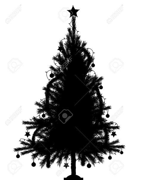 black xmas tree with lights silhouette christmas tree christmas lights decoration