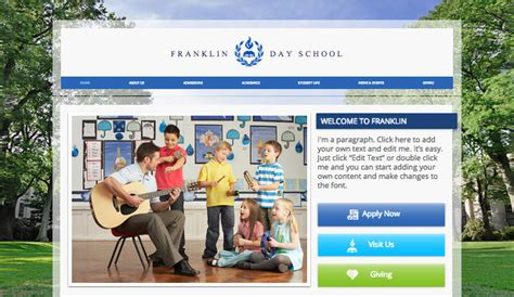 Education Website Templates Community Education Wix Country Website Template