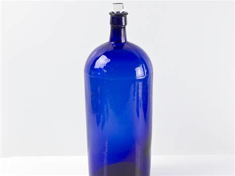 Blue Big Bottle bristol blue glass large chemists bottle