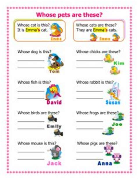 preguntas con whose is english exercises possessive pronouns and possessive