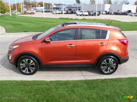 Orange Kia Sportage Techno Orange 2011 Kia Sportage Sx Exterior Photo