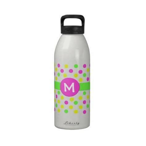 Custom Polka Bottle bright polka dot monogram custom water bottle