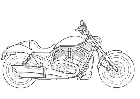 Easy Harley Davidson Drawing Hobbiesxstyle