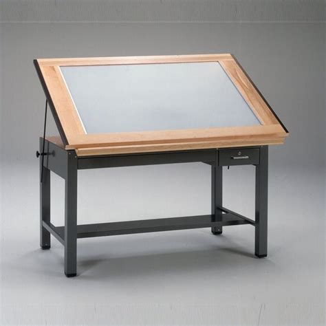 Mayline Ranger Drafting Table Mayline Ranger 60 Quot Steel 4 Post Light Drawing Table 7736bltx