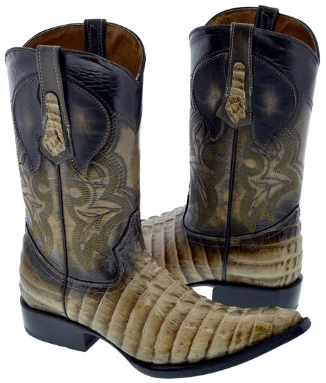 gator skin boots mens mens sand beige crocodile alligator skin print western