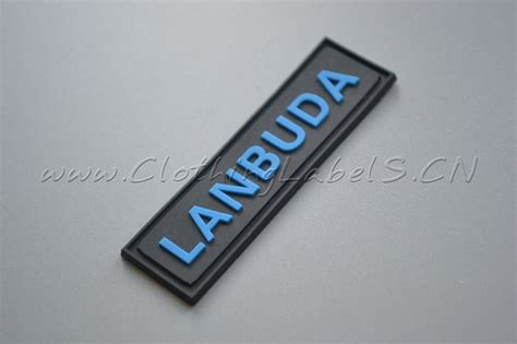 custom rubber st logo custom rubber label pvc material embossed logo labels