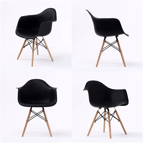 Replica Eames Armchair by Replica Eames Daw Armchair Black X2 La
