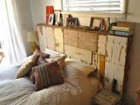 upcycling inspiration scrap wood headboard apartment therapy