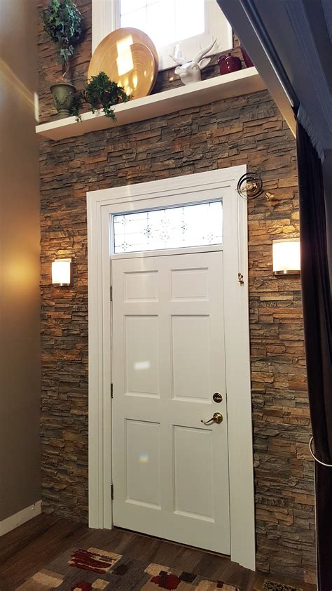 diy accent wall adds drama   doorway creative faux panels