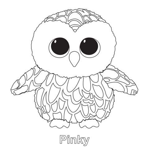 pinky the owl ty beanie boo ty beanie boos pinterest
