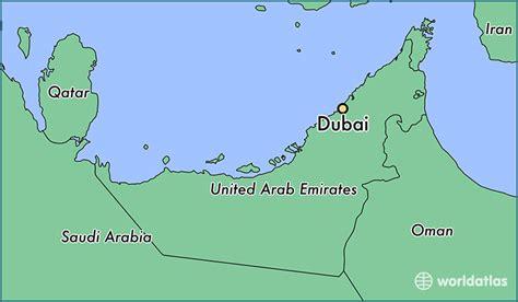 dubai on map where is dubai the united arab emirates dubai dubai map worldatlas