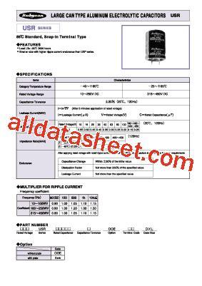 capacitor data sheet pdf usr datasheet pdf rubycon corporation