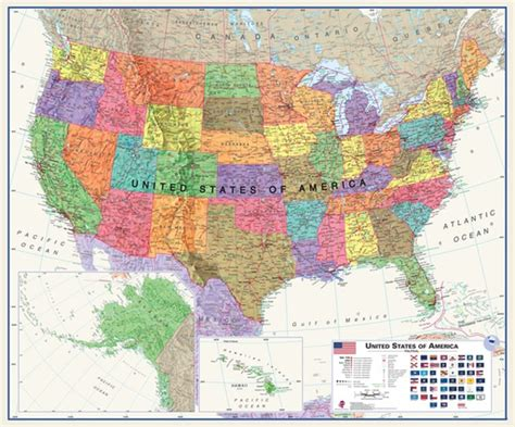 map usa with oceans usa white oceans laminated wall map 47x39 maps